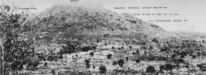 Panorama-Foto Kampfgebiet Ostafrika