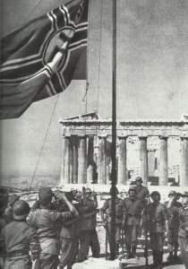 deutsche Kriegsflagge Akropolis