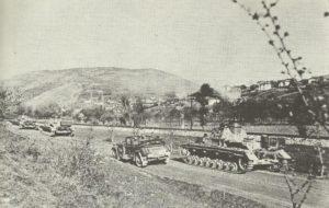 Panzergruppe von Kleist kurz vor Belgrad