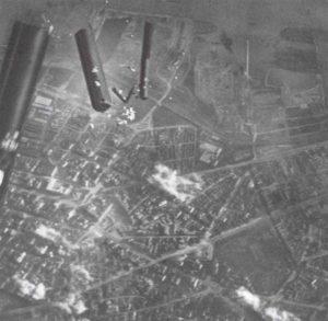 deutsche Brandbomben auf Belgrad