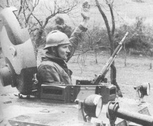 jugoslawischer Panzerkommandant