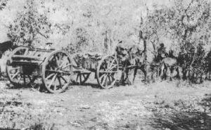 13-Pfünder-Geschütz der südafrikanischen berittenen Infanterie