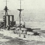 Schlachtschiff 'Malaya'.