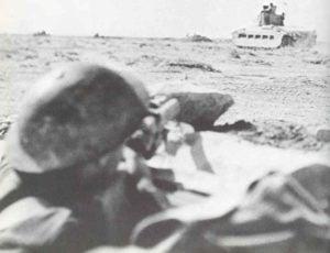 Matilda II Panzer während des Unternehmen Brevity