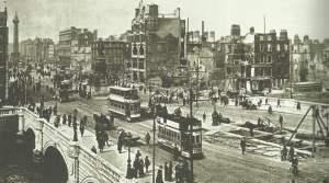 Spuren der Kämpfe in Dublin