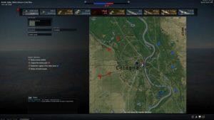 Karte mit Basen in War Thunder