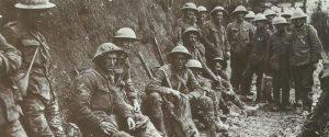 Gruppe von Verpflegungsträgern der Royal Irish Rifles