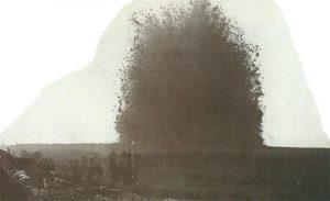 Unterirdische Minenexplosion an der Somme