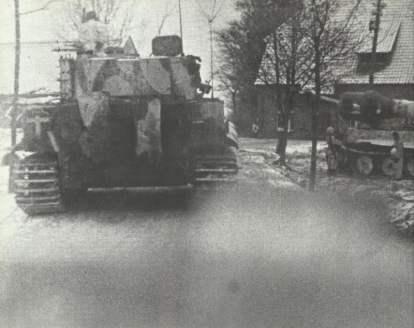 Gegenstoss mit Tiger-Panzern