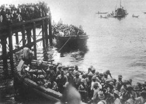 2. Westindische Regiment schifft sich nach Ostafrika ein