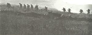 Britischer Infanterieangriff Somme