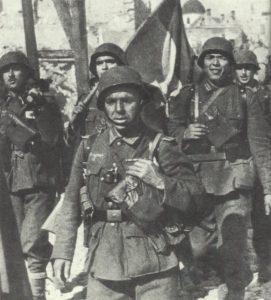 Soldaten der spanischen Blauen Division