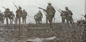 Britischer Infanterieangriff