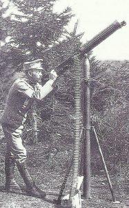 Luftabwehr mit einem Maschinengewehr