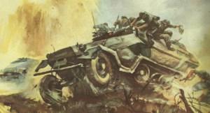 Infanterie springt von Schützenpanzer ab