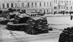 Barrikaden in Moskau