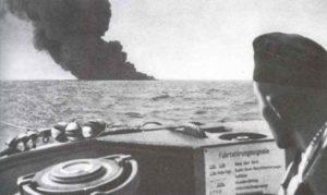 brennender Tanker