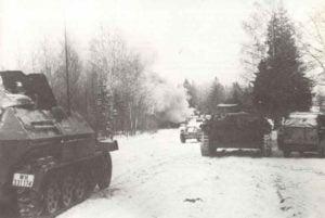 Deutsche Panzerspitze im Raum Wolokolamsk