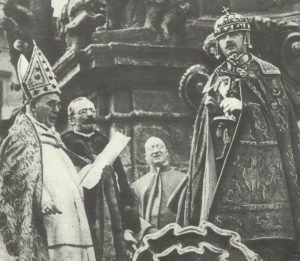 Kaiser Karl bei der Krönung zum ungarischen König