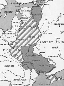 Karte ostfront bis Spätsommer 1944