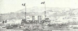 italienische Schlachtschiff 'Regina Margherita'