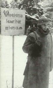 Wo der deutsche Soldat steht ist Deutschland