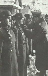 Angehörige der spanischen 'Blauen Division'