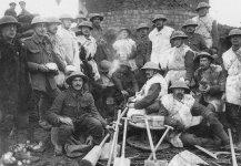 Trupp eines Arbeits-Bataillon des BEF