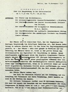 Hossbach-Protokoll