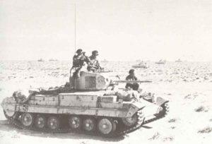 Valentine-Panzer in der Wüste