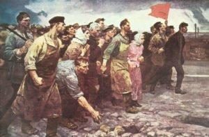 Russische Arbeiter erheben sich