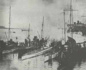 deutscher Stützpunkt für U-Boote und Zerstörer