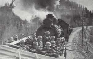 Eisenbahntransport in Norwegen unter Deckung