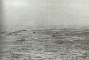 Konvoi aus Handelsschiffen