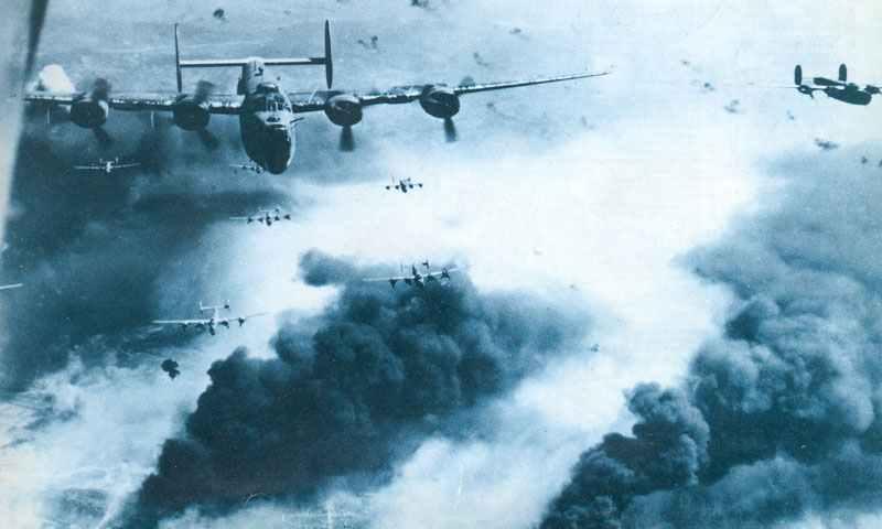 B-24D Liberator über Ploesti