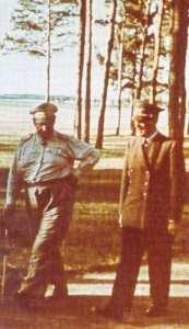 Hitler im Führerhauptquartier in Winniza