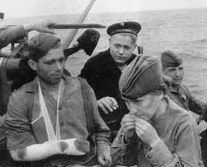 Evakuierte russische Soldaten
