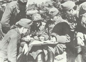 ungarische und deutsche Offiziere