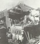 nach einem deutschen Luftangriff auf London