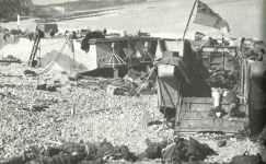 Strand von Dieppe nach der abgeschlagenen Landung