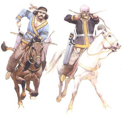 berittenen Bogenschützen