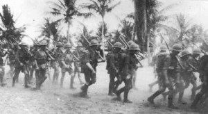 Britische Infanteristen in Ostafrka