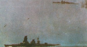 Nagato während der Schlacht von Leyte