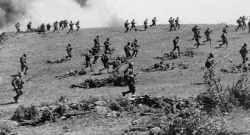 Angriff der Rodjmtsew-Division auf den Mamajew-Hügel.