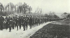 Marsch amerikanischer Soldaten
