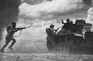 Besatzung von Panzer III ergibt sich