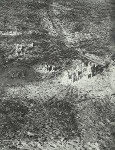 Reste vom Dorf Zonnebeke im Ypern-Bogen