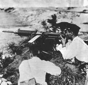 Japanische MG-Stellung