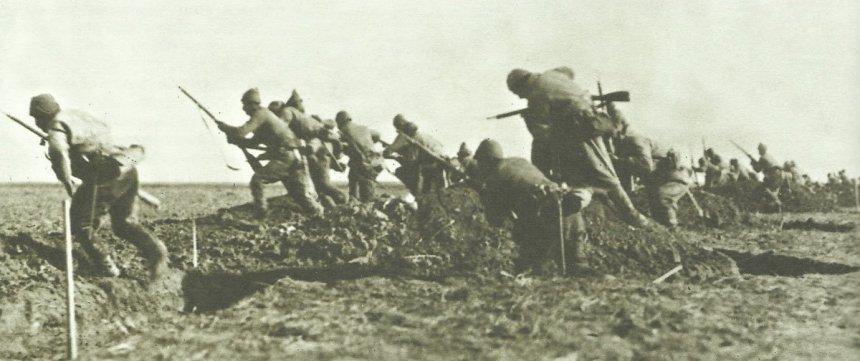 Angriff türkischer Infanterie