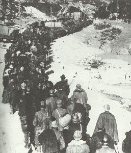 Abmarsch von italienischen Kriegsgefangenen